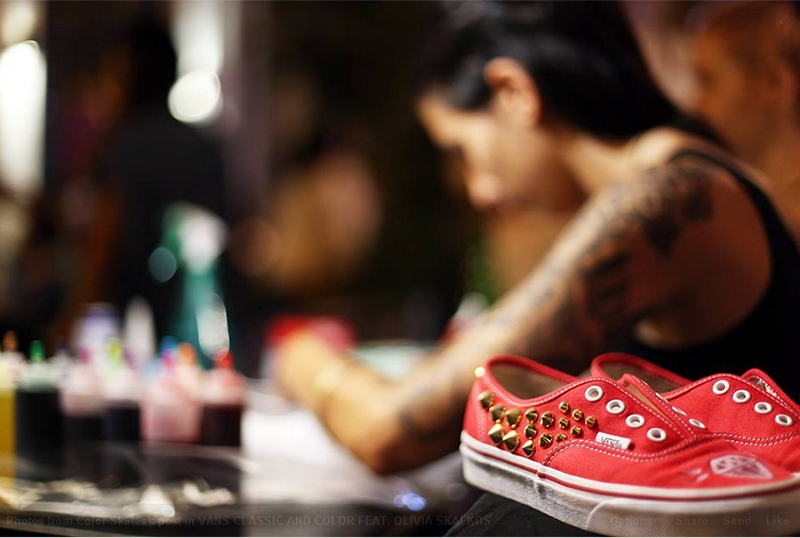 7f422eae81 Vans Classic   Color Feat. Olivia Skalkos  Back in town!the DOTS!