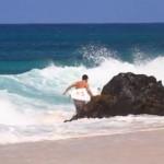 Ένας αστείος surfer