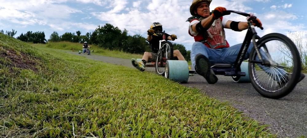 Go-Pro- Tricked-Out DIY Trike Drifting